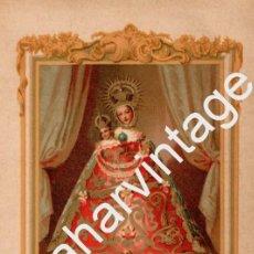Arte: CROMOLITOGRAFIA ORIGINAL : NUESTRA SEÑORA DE LA FUENCISLA (1886),140X210MM. Lote 69392521