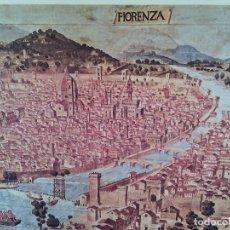 Arte: FIRENZE NEL 1480. EDIZIONI D´ARTE NOVA LUX. FIRENZE. LÁMINA ITALIANA.. Lote 72097699