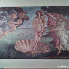 Art: EL NACIMIENTO DE VENUS DE SANDRO BOTTICELLI. FOTOCROMÍA.. Lote 72097935