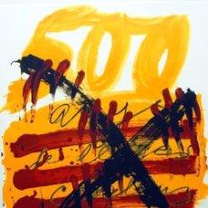 Arte: TÀPIES / CARTEL HOMENAJE A LOS 500 AÑOS LIBRO CATALÁN . FIRMADO PLANCHA. LA POLÍGRAFA . * MATARÓ. Lote 36451092
