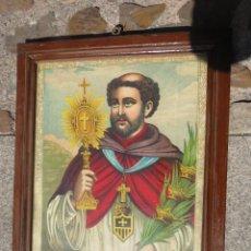Arte: ANTIGUA CROMOLITOGRAFIA SAN RAMON NONATO SOBRE 1900.47 X 40. Lote 79866885