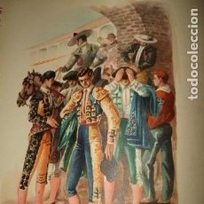 Arte: TOREROS CROMOLITOGRAFIA AÑOS 40 IBARRA ILUSTRADOR. Lote 81203948
