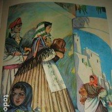 Arte: IBIZA AGUADORAS IBICENCAS CROMOLITOGRAFIA AÑOS 40 DELGADO ILUSTRADOR. Lote 81208432