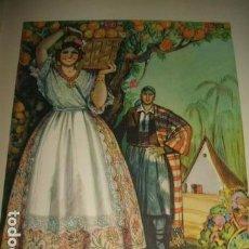 Arte: VALENCIA TIPOS VALENCIANOS CROMOLITOGRAFIA AÑOS 40 DELGADO ILUSTRADOR. Lote 81209500