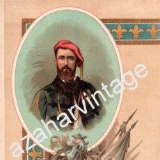 Arte: ALFONSO DE BORBON Y AUSTRIA , CARLISMO , GUERRA CARLISTA (CROMOLITOGRAFIA AÑO1892). Lote 81744824