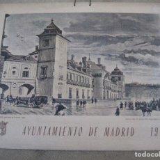 Arte: CALENDARIO O ALMANAQUE DE PARED- LAMINA EN CARTON DURO - AYUNTAMIENTO DE MADRID - AÑO 1973.. Lote 83486800