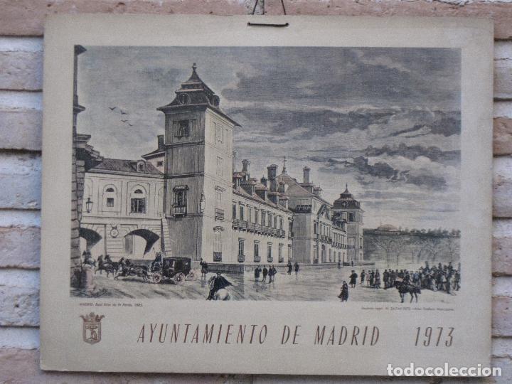 Arte: CALENDARIO O ALMANAQUE DE PARED- LAMINA EN CARTON DURO - AYUNTAMIENTO DE MADRID - AÑO 1973. - Foto 3 - 83486800