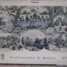 Arte: CALENDARIO O ALMANAQUE DE PARED- LAMINA EN CARTON DURO - AYUNTAMIENTO DE MADRID - AÑO 1972.. Lote 83487332
