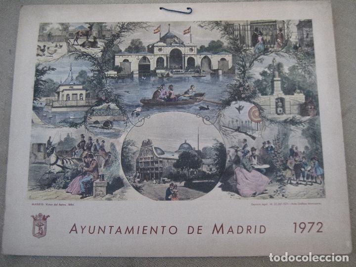Arte: CALENDARIO O ALMANAQUE DE PARED- LAMINA EN CARTON DURO - AYUNTAMIENTO DE MADRID - AÑO 1972. - Foto 2 - 83487332