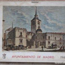 Arte: CALENDARIO O ALMANAQUE DE PARED - LAMINA EN CARTON DURO DEL AYUNTAMIENTO DE MADRID - AÑO 1969.. Lote 83487840