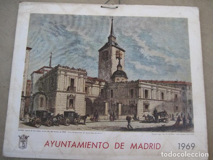 Arte: CALENDARIO O ALMANAQUE DE PARED - LAMINA EN CARTON DURO DEL AYUNTAMIENTO DE MADRID - AÑO 1969. - Foto 2 - 83487840