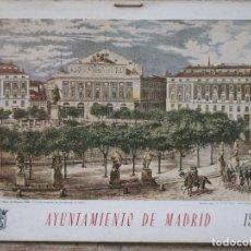 Arte: CALENDARIO O ALMANAQUE DE PARED- LAMINA EN CARTON DURO - AYUNTAMIENTO DE MADRID - AÑO 1968.. Lote 83488572