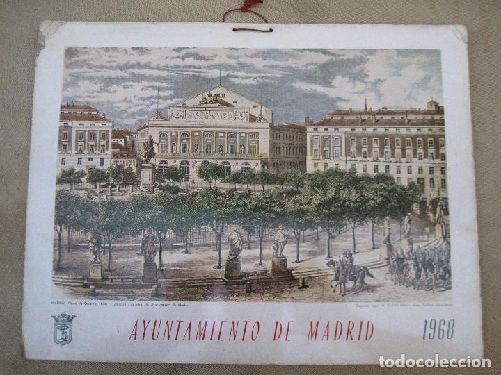 Arte: CALENDARIO O ALMANAQUE DE PARED- LAMINA EN CARTON DURO - AYUNTAMIENTO DE MADRID - AÑO 1968. - Foto 2 - 83488572