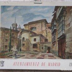 Arte: CALENDARIO O ALMANAQUE DE PARED - LAMINA EN CARTON DURO DEL AYUNTAMIENTO DE MADRID - AÑO 1967.. Lote 83507556