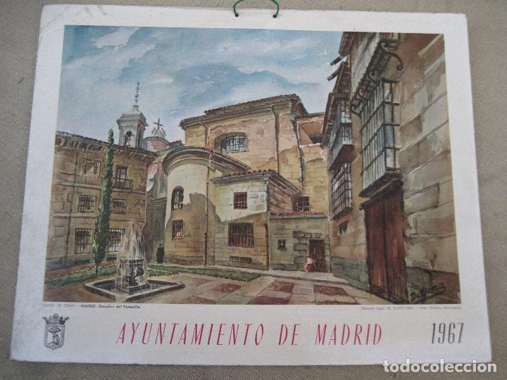 Arte: CALENDARIO O ALMANAQUE DE PARED - LAMINA EN CARTON DURO DEL AYUNTAMIENTO DE MADRID - AÑO 1967. - Foto 3 - 83507556