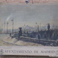 Arte: CALENDARIO O ALMANAQUE DE PARED- LAMINA EN CARTON DURO - AYUNTAMIENTO DE MADRID - AÑO 1963.. Lote 83508408
