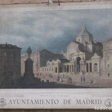 Arte: CALENDARIO O ALMANAQUE DE PARED. LAMINA EN CARTON DURO DEL AYUNTAMIENTO DE MADRID - AÑO 1962. Lote 83509880