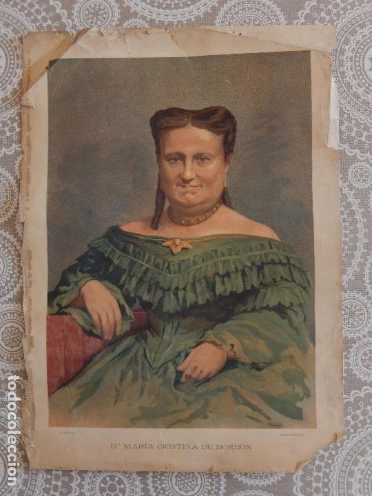 CROMOLITOGRAFIA - MARIA CRISTINA DE BORBON (Arte - Cromolitografía)