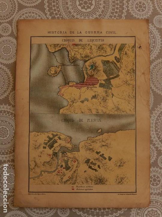 CROMOLITOGRAFIA - CROQUIS DE LEQUEITIO Y PLENCIA (Arte - Cromolitografía)