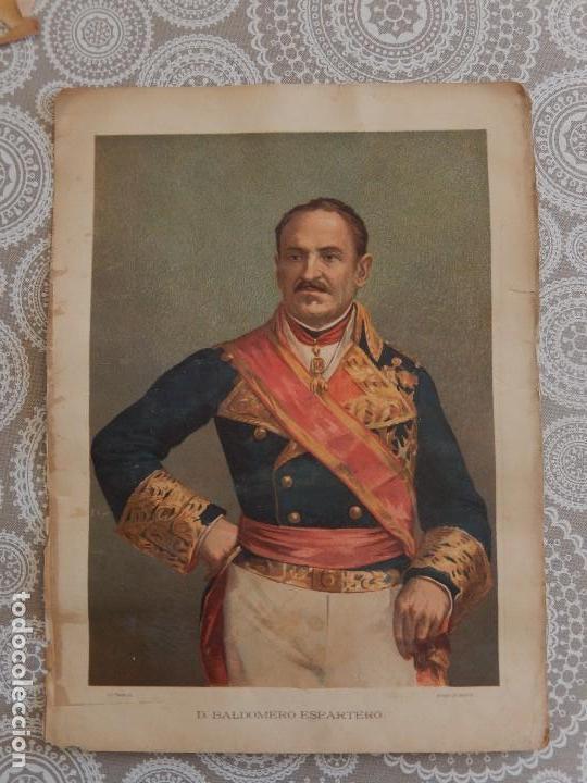 CROMOLITOGRAFIA - D. BALDOMERO ESPARTERO (Arte - Cromolitografía)