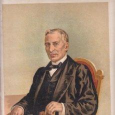 Arte: CROMOLITOGRAFÍA. D. JUAN ANTONIO ZARATIEGUI. CARLISMO. 1890. 32,5 X 23,5 CM. OLITE, NAVARRA. Lote 85201664