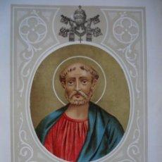 Arte: SAN EVARISTO . AÑO 1885 .J SERRA CROMOLITOGRAFIA MAS.19.5 X 13. Lote 95032103
