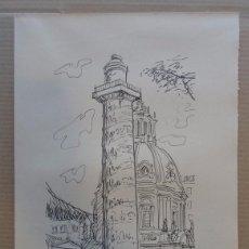 Arte: FERNANDO CHUECA GOITIA (MADRID 1911-04) REPRODUCCIÓN 25X34 ROMA 1968 EDICIÓN 180/325 COLUMNA TRAJANA. Lote 96072347