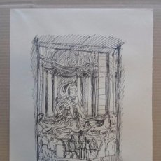 Arte: FERNANDO CHUECA GOITIA (MADRID 1911-04) REPRODUCCIÓN 25X34 ROMA 1968 EDICIÓN 180/325 FONTANA TREVI . Lote 96073759