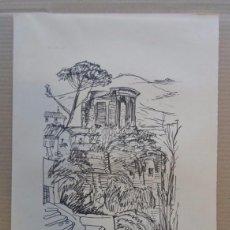Arte: FERNANDO CHUECA GOITIA (MADRID 1911-04) REPRODUCCIÓN 25X34 ROMA 1968 EDICIÓN 180/325 TEMPLO SIBILA. Lote 96075059