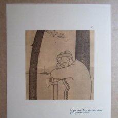 Arte: CASTELAO (RIANXO, A CORUÑA 1886-BUENOS AIRES 1950) FACSÍMIL 24X34 NOS EDICIÓN /110 PONTEVEDRA. Lote 100164019