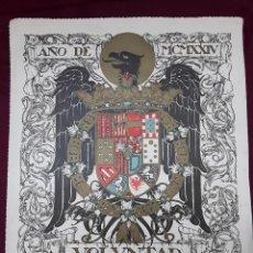 Art: AGUILA CON ESCUDO AÑO DE MCMXXIV VOLUNTAD DE JOSÉ LOYGORRI. Lote 211953936