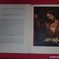 Arte: CROMOLITOGRAFÍA REMBRANDT -AÑO 1941- -FORMA PARTE DE CAPOLAVORI DELLA PITTURA- GRAN FORMATO. Lote 100657431