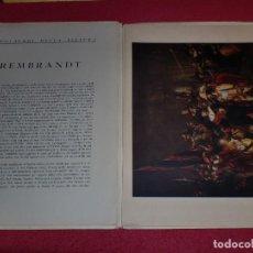 Arte: CROMOLITOGRAFÍA REMBRANDT -AÑO 1941- -FORMA PARTE DE CAPOLAVORI DELLA PITTURA- GRAN FORMATO. Lote 100657463