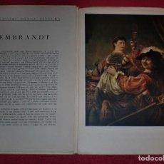 Arte: CROMOLITOGRAFÍA REMBRANDT -AÑO 1941- -FORMA PARTE DE CAPOLAVORI DELLA PITTURA- GRAN FORMATO. Lote 100657491