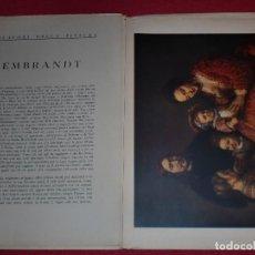Arte: CROMOLITOGRAFÍA REMBRANDT -AÑO 1941- -FORMA PARTE DE CAPOLAVORI DELLA PITTURA- GRAN FORMATO. Lote 100657499