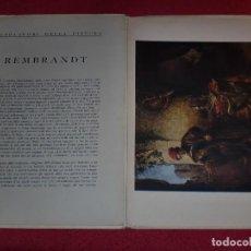 Arte: CROMOLITOGRAFÍA REMBRANDT -AÑO 1941- -FORMA PARTE DE CAPOLAVORI DELLA PITTURA- GRAN FORMATO. Lote 100657519