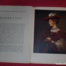 Arte: CROMOLITOGRAFÍA REMBRANDT -AÑO 1941- -FORMA PARTE DE CAPOLAVORI DELLA PITTURA- GRAN FORMATO. Lote 100657531