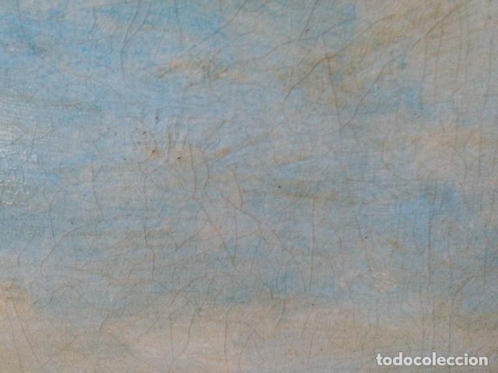 Arte: Claudio Monet paseo en el campo, cromolitografia pegada a cartón piedra. - Foto 2 - 102685287