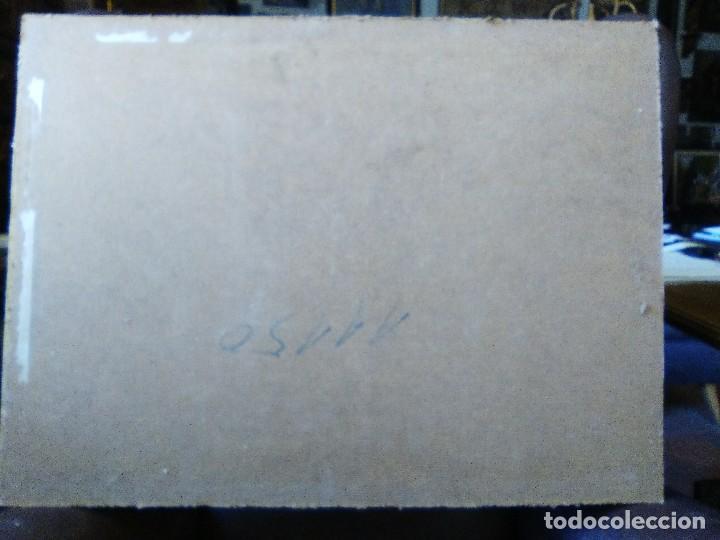 Arte: Claudio Monet paseo en el campo, cromolitografia pegada a cartón piedra. - Foto 4 - 102685287