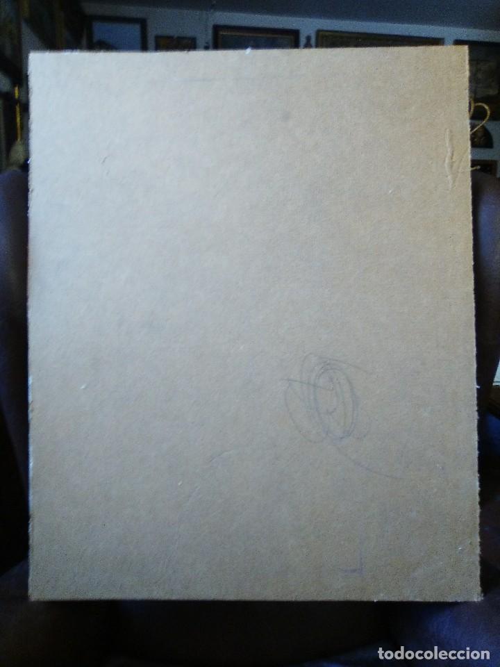 Arte: Jil guerra chica segadora cromolitografia pegada a cartón piedra. - Foto 2 - 102687075