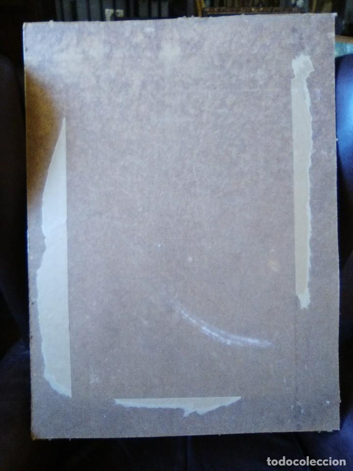 Arte: Bodegón de flores firmado cromolitografia pegada en cartón piedra. - Foto 3 - 102687883