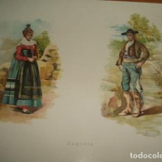 Arte: SEGOVIA TIPOS SEGOVIANOS CROMOLITOGRAFIA SIGLO XIX 23 X 34 CMTS. Lote 103207935