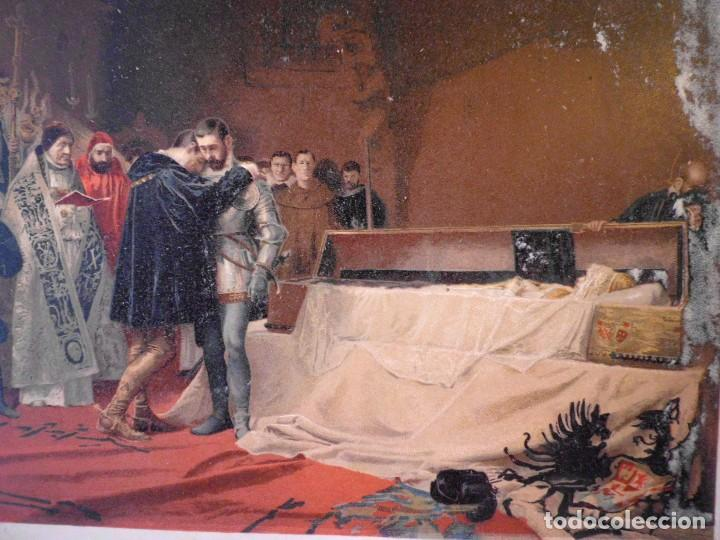 Arte: Cromolitografía La conversión del duque de Gandía - Foto 2 - 104906779