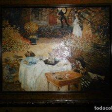 Arte: PRECIOSA CROMOLITOGRAFIA DE CLAUDE MONET CON MARCO.-. Lote 107834951