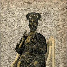 Arte: ARTE CRISTIANO ANTIGUO SAN PEDRO BASÍLICA DE SAN PEDRO DEL VATICANO ROMA CROMOLITOGRAFÍA ORIGINAL. Lote 112070439