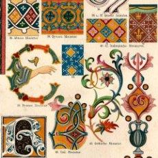 Arte: ORNAMENTOS ARQUITECTÓNICOS EDAD MEDIA ARTES DECORATIVAS MEDIEVALES MINIATURAS CAPITELES INICIALES. Lote 112331807