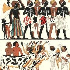 Arte: PINTURAS ANTIGUO EGIPTO REPRESENTACIONES PICTÓRICAS ARTES PLÁSTICAS ANTIGÜEDAD. Lote 112340203