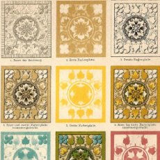 Arte: LITOGRAFÍA EJEMPLO GRÁFICO DE COMPOSICIÓN ARTE LITOGRÁFICO GRABADOS EN COLOR GRABADO A PIEDRA. Lote 112343399