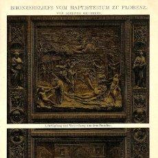 Arte: RELIEVES EN BRONCE DEL BAPTISTERIO DE SAN JUAN DE FLORENCIA ESCULTURA EN RELIEVE ARTE. Lote 112344491