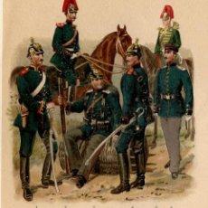 Arte: ARTILLERÍA REGIMIENTOS NACIONES EUROPEAS SIGLO XIX IMPERIO ALEMÁN GRAN BRETAÑA FRANCIA RUSIA AUSTRIA. Lote 112438471